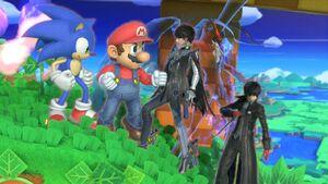 Mario sonic bayonetta and joker by user15432 ddk1i6i