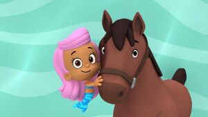 Molly and her horse pal