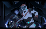 Keith and Acxa face Zethrid and Ezor