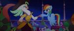 Rainbow Dash and Celaeno hoof-bump MLPTM 1