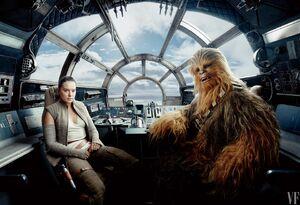 Star Wars The Last Jedi - Rey and Chewbacca
