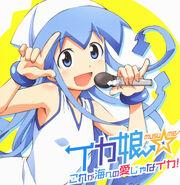 Yande.re 165512 disc cover ikamusume shinryaku! ikamusume