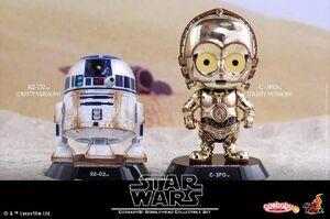 Cosbaby Bobble-Heads R2-D2 C-3PO Dusty Version