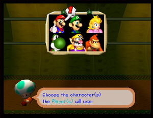 Mario party 2 64 all characters with Green Toad