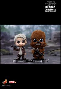 TFA Cosbaby Bobble-Heads Han Solo and Chewbacca