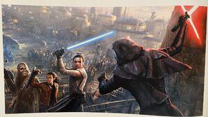 The Art of Star Wars Galaxy's Edge - Rey vs. Kylo Ren