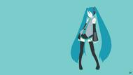 Hatsune miku vocaloid minimalist wallpaper by greenmapple17-d8fkh7s