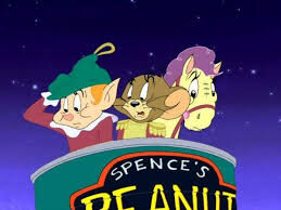 Paulie, Jerry and Nelly being shot out of a cannon