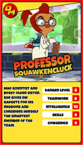 Professor Squawkencluck trading card