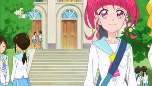 STPC05 Hikaru walks to the rokcet with Elena
