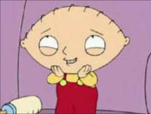 Stewie Griffin grin