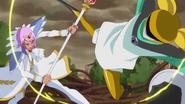 Freeze and Prince Kanata fight