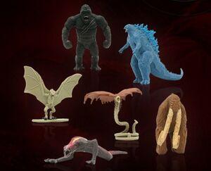 Godzilla vs. Kong mini figures