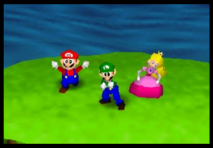 Mario party 64 mario and peach in Bombs Away
