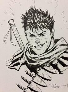 Ryan Ottley's Guts Smile from Berserk