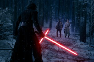 Star-Wars-The-Force-Awakens-Kylo-Ren-vs-Finn-and-Rey