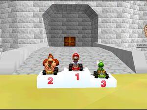 Mario Kart 64 mario dk and yoshi