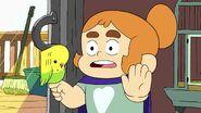 Mortimer on Kelsey's finger