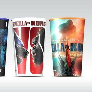 New Godzilla vs. Kong Cups from Carl's Jr Spain