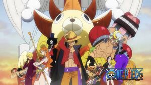 The Straw Hat Pirates in the new eyecatch in Wano Contry Arc