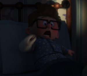 Carl Fredricksen's funny scream