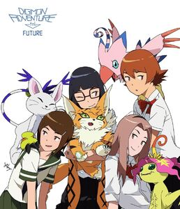 Girl DigiDestinds and Digimons
