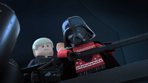 Vader throws Palpatine - The LEGO Star Wars Holiday Special