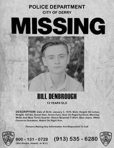 Bill Denbrough Missing Poster