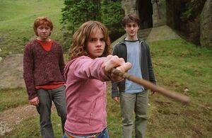 Hermione facing Malfoy