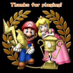 Mario Kart ds mario and peach in the Ending