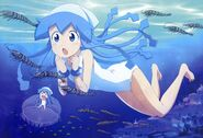 Yande.re 200064 chibi honda yoshino ikamusume shinryaku! ikamusume swimsuits
