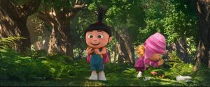 Despicable M3 Agnes in the woods with edith
