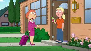 Lois Griffin saleswoman