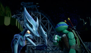 Serpent Karai Trying To Get Away From Leonardo