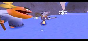 Spyro 2 Ripto's Rage! spyro and Shaman Tok and George the snow leopard
