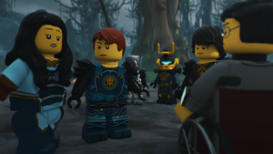 Cole, Maya, Cyrus Borg, Samurai X and Jay