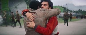 Finn and Poe hug - TFA