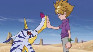 Gabumon & Yamato high five