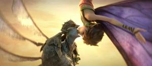 Marianne and Bog King kiss