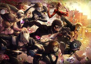 Phantom Thieves of Hearts form together