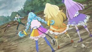 STPC45 Soleil, Selene and Cosmo arrive to help Hikaru