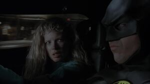 Vicki and Batman - Batmobile