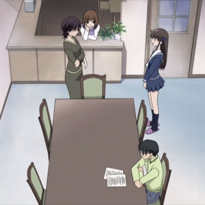 Her Family talk to Tohru