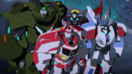 Bulkhead, Ratchet, Windblade and Jazz