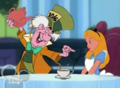 Alice and Mad Hatter in the House of Mouse