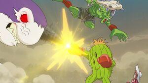 Drimogemon vs Togemon, Ogremon tried to capture Mimi