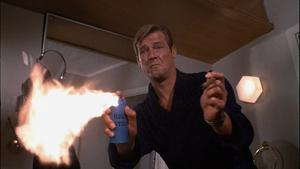 Live-and-let-die-james-bond-roger-moore-aerosol-cigar-fire