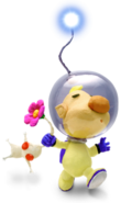 Louie and White Pikmin P2 art