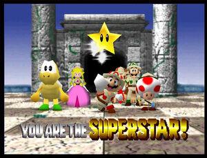 Mario party 2 mario luigi peach dk koopa tropa and toad in Mystery Land