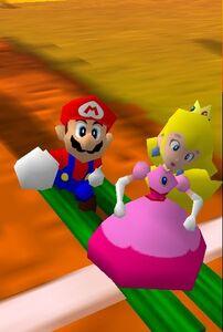 Mario party 64 mario and peach in the desert